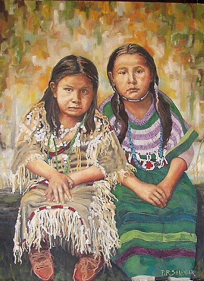 Sisters Watching by Peggy Selander