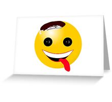 Zombie Smiley - Keep on Smiling 2 Greeting Card