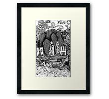River Temple Framed Print