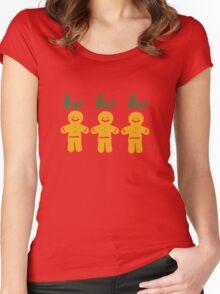 HO HO HO gingerbread man Women's Fitted Scoop T-Shirt