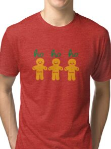 HO HO HO gingerbread man Tri-blend T-Shirt