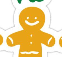 HO HO HO gingerbread man Sticker