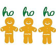 HO HO HO gingerbread man Photographic Print
