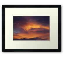 Heavenly brush strokes Framed Print