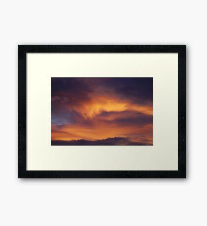 Heavenly brush strokes Framed Print