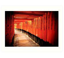 Fushimi-Inari Shrine Art Print