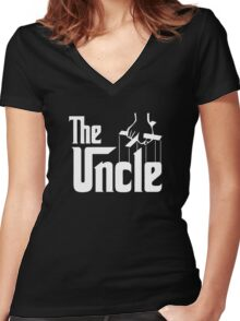 The Uncle T-shirt Godfather Inspired Women's Fitted V-Neck T-Shirt