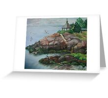 Manor Park in Larchmont, New York Greeting Card