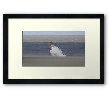Runaway Bride.......  Framed Print