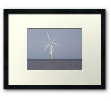 Windmills at Sea Framed Print