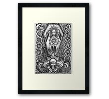 Our lady of misery  Framed Print