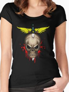 skull t-shirt Women's Fitted Scoop T-Shirt