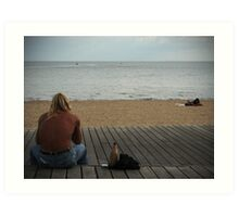 Man at Beach Part I Art Print