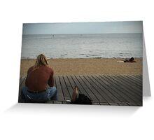 Man at Beach Part I Greeting Card