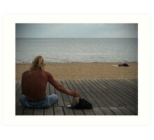 Man at Beach Part II Art Print