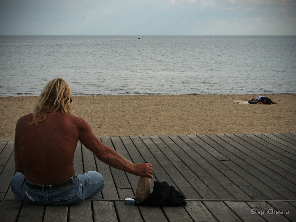 Man at Beach Part II by StephChesna