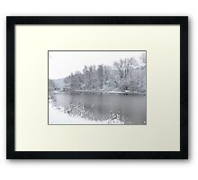 Quiet the dragons of worry and fear... Framed Print