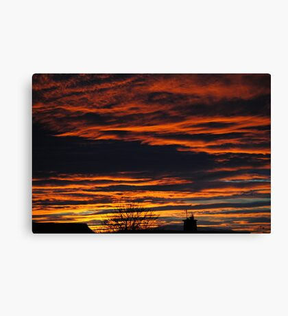 Red Sky at Night ..... Canvas Print