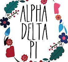 Alpha Delta Pi Flower Wreath Design by Margaret Young