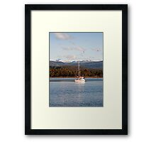 On the Huon with Snow on Hartz Mountains Framed Print