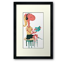 I'm reading a paper book and I'm normal. Framed Print