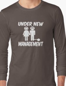 Under New Management Stag Night Wedding Long Sleeve T-Shirt