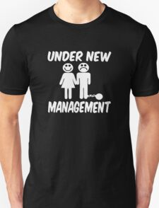 Under New Management Stag Night Wedding T-Shirt