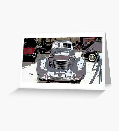 Old School Automotive Greeting Card