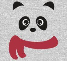 Cute panda with scarf One Piece - Long Sleeve