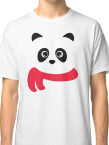 Cute panda with scarf Classic T-Shirt