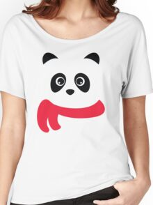 Cute panda with scarf Women's Relaxed Fit T-Shirt