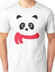 Cute panda with scarf Unisex T-Shirt