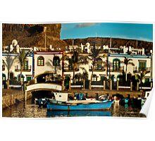 Fishing boats at Puerto Mogan Poster