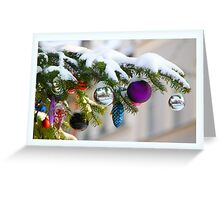Snow on the Christmastree Greeting Card