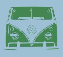 VW Kombi Green Design One Piece - Short Sleeve