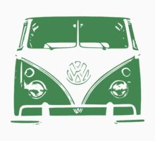 VW Kombi Green Design Kids Tee