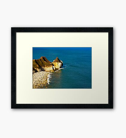 Yorkshire Coast at Thornwick Bay Framed Print