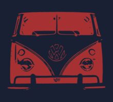 VW Kombi Red Design One Piece - Long Sleeve
