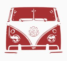 VW Kombi Red Design Kids Tee
