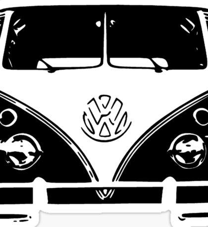 VW Kombi Black design Sticker