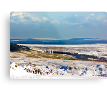 Winter on the North Yorks Moors Metal Print