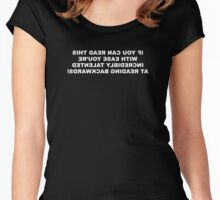 Reading Backwards Women's Fitted Scoop T-Shirt