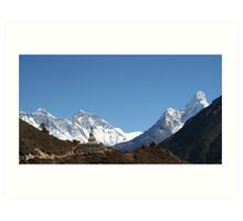 Everest and Ama Dablam Art Print