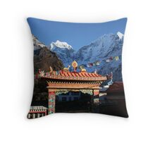 Temple at Tengboche Throw Pillow