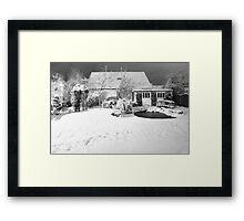 Garden Snow in England Framed Print