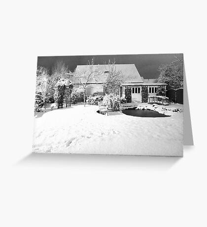Garden Snow in England Greeting Card