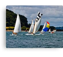 Falmouth Classics - running down to the Finish. Canvas Print