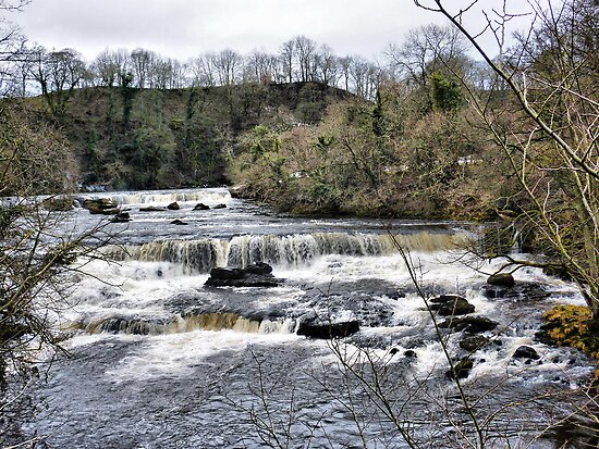 Aysgarth Falls . by Lilian Marshall
