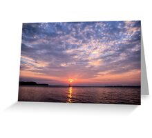 Classic Sailboat and Sunset Greeting Card