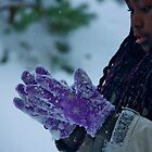 The purple gloves by LadyFi
